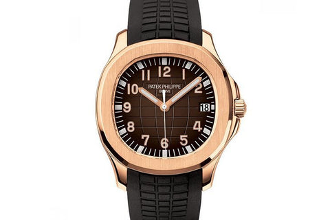 Patek Philippe Aquanaut 5167R-001 - Rose Gold on Black Rubber - Brown Dial