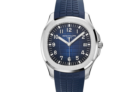 Patek Philippe Aquanaut 5168G-001 - White Gold on Blue Rubber - Blue Dial