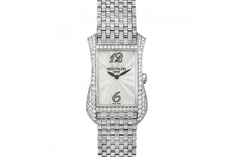Patek Philippe Gondolo Serata Ladies 4972/1G-001 - White Gold & Diamond on Bracelet - Pearl Dial