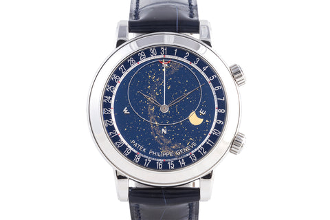 Patek Philippe Grand Complications Celestial 6102P-001 - Platinum on Blue Leather - Blue Dial