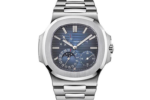 Patek Philippe Nautilus Moonphase 5712/1A-001 - Stainless Steel on Bracelet - Blue Dial