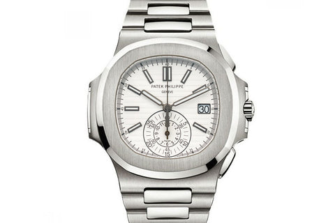 Patek Philippe Nautilus Chronograph 5980/1A-019 - Stainless Steel on Bracelet - White Dial