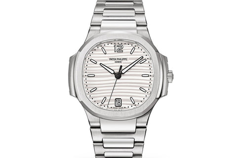 Patek Philippe Ladies Nautilus 7118/1A-010 - Stainless Steel on Bracelet - White Dial