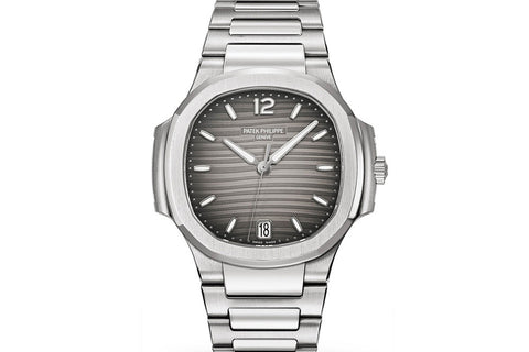 Patek Philippe Ladies Nautilus 7118/1A-011 - Stainless Steel on Bracelet - Grey Dial