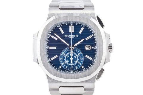 Patek Philippe Nautilus 5976/1G-001 Limited Edition 40th Anniversary - 18K White Gold on Bracelet - Blue Dial
