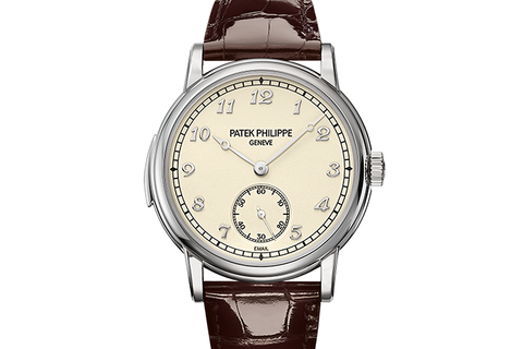 Patek Philippe Grand Complications Minute Repeater 5078G-001 - White Gold on Brown Leather - Cream Dial