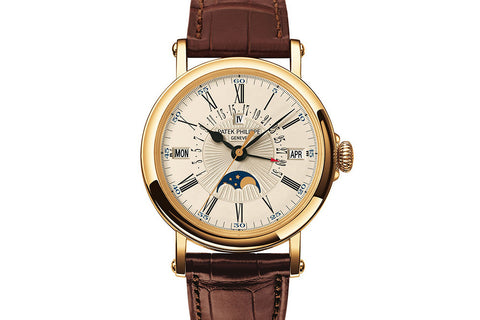 Patek Philippe Grand Complications Perpetual Calendar 5159J-001 - Yellow Gold on Brown Leather - Opaline Dial