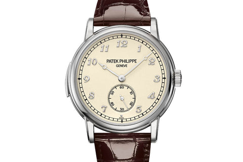 Patek Philippe Grand Complications Minute Repeater 5178G-001 - White Gold on Brown Leather - Cream Dial