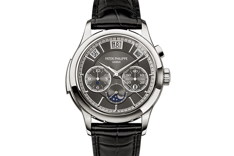 Patek Philippe Grand Complications Minute Repeater 5208/P-001 Platinum on Black Leather - Grey Dial