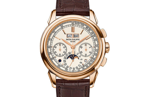 Patek Philippe Grand Complications Perpetual Calendar 5270R-001 - Rose Gold on Brown Leather - Opaline Dial