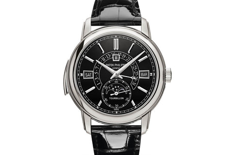 Patek Philippe Grand Complications Minute Repeater 5316P-001 - Platinum on Black Leather - Black Dial