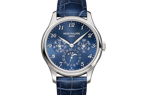 Patek Philippe Grand Complications Perpetual Calendar 5327G-001 - White Gold on Blue Leather - Blue Dial