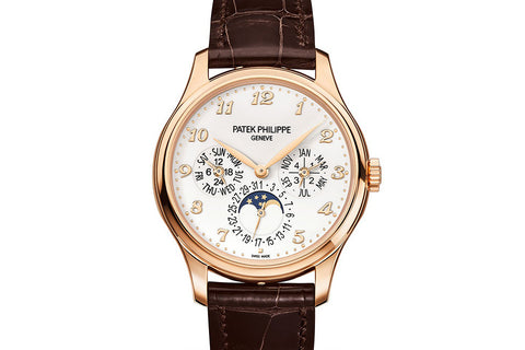 Patek Philippe Grand Complications Perpetual Calendar 5327R-001 - Rose Gold on Brown Leather - Ivory Dial