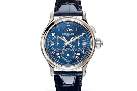Patek Philippe Grand Complications Perpetual Calendar 5372P-001 - Platinum on Blue Leather - Blue Dial