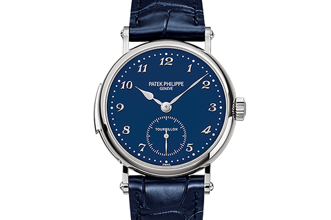 Patek Philippe Grand Complications Minute Repeater Tourbillon 5539G-010 - White Gold on Blue Leather - Blue Dial