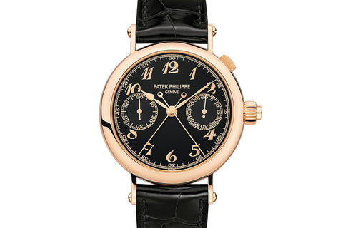 Patek Philippe Grand Complications Chronograph 5959R-001 - Rose Gold on Black Leather - Black Dial