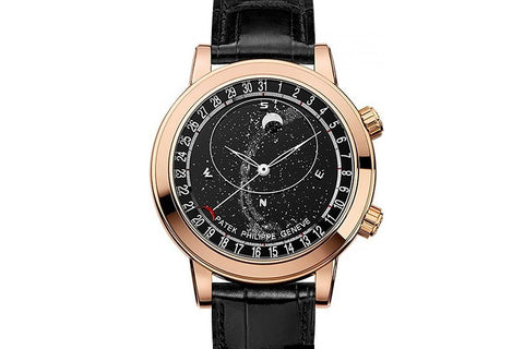Patek Philippe Grand Complications Celestial 6102R-001 - Rose Gold on Black Leather - Black Dial