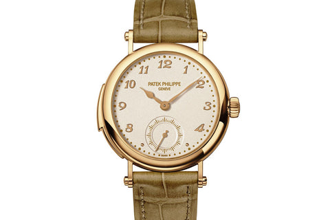 Patek Philippe Grand Complications Ladies First Minute Repeater 7000R-001 - Rose Gold on Beige Leather - Cream Dial