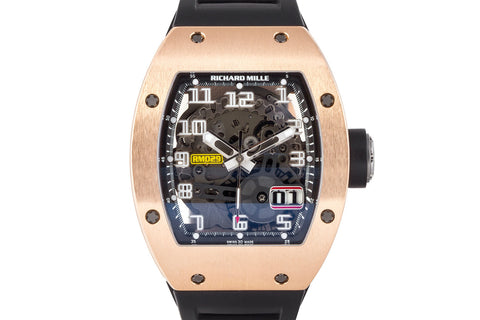 Richard Mille RM 029 Rose Gold Skeleton Big Date