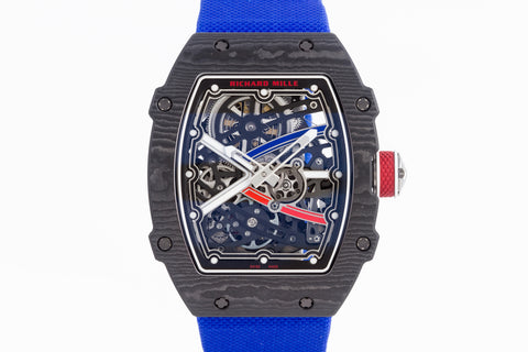 Richard Mille RM67-02 - Black Carbon TPT on Blue Elastic Strap
