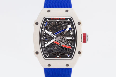 Richard Mille RM67-02 - White Carbon TPT on Blue Elastic Strap