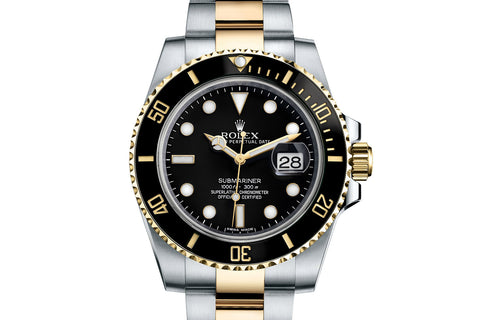 Rolex Oyster Perpetual Submariner Date Stainless Steel & 18K Gold - Black Dial