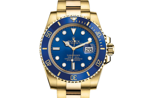 Rolex Oyster Perpetual Submariner Date 18K Yellow Gold - Blue Dial