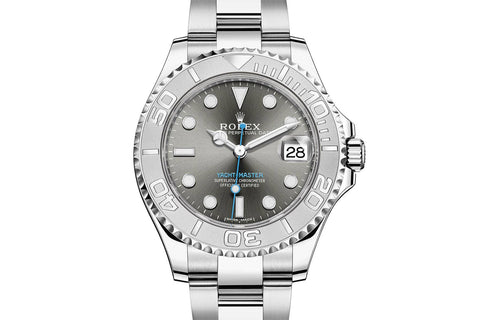 Rolex Oyster Perpetual Yacht-Master 37mm Platinum & Stainless Steel on Bracelet - Dark Rhodium Dial