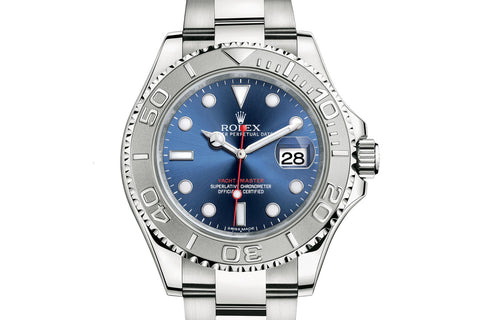 Rolex Oyster Perpetual Yacht-Master 40mm Platinum & Stainless Steel on Bracelet - Blue Dial