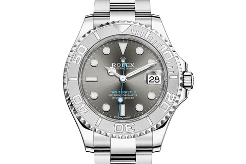 Rolex Oyster Perpetual Yacht-Master 40mm Platinum & Stainless Steel on Bracelet - Dark Rhodium Dial