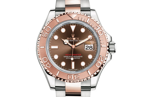 Rolex Oyster Perpetual Yacht-Master 40mm 18K Rose Gold & Stainless Steel on Bracelet - Chocolate Dial