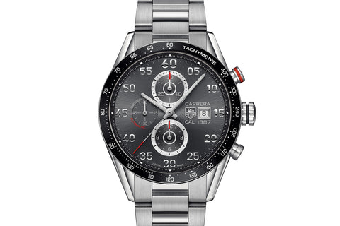 TAG Heuer Carrera Calibre 1887 Automatic Chronograph - Grey & Silver on Stainless Bracelet