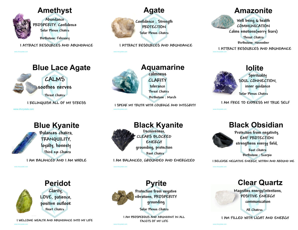 crystals and their meanings pdf
