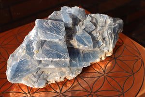 Blue Calcite Specimen