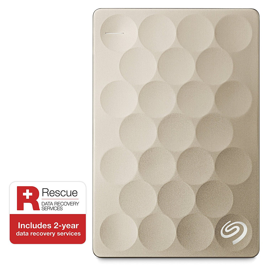 449599258f8 Seagate Backup Plus Ultra Slim 2TB USB 3.0 External Hard Drive with Mobile  Device Backup (Gold)
