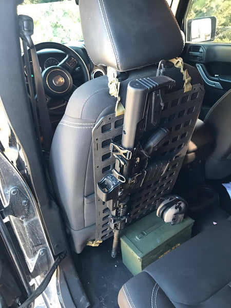 Grey Man Tactical Rigid MOLLE Panel Vehicle Truck Jeep Hummer Weapon Rack Seat Back Weapon Mount