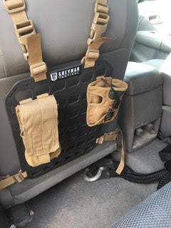 Grey Man Tactical Rigid MOLLE Panel - Afghanistan Security Contractor Vehicle Seat Back MOLLE Panel Armored Toyota Hilux