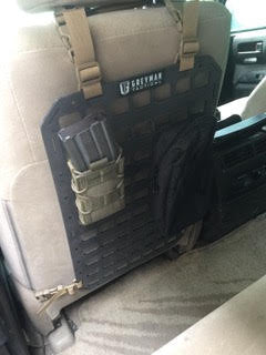 Grey Man Tactical Rigid MOLLE Panel - Afghanistan Security Contractor Vehicle Seat Back MOLLE Panel Armored Land Rover