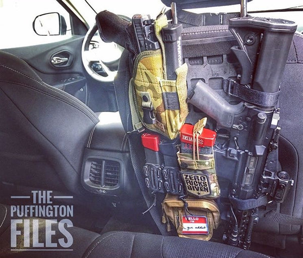 Grey Man Tactical Rigid MOLLE Panel Vehicle Seat Back Rifle Mount