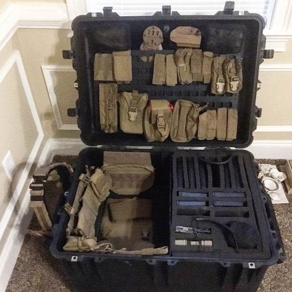 Grey Man Tactical Rigid MOLLE Panel Pelican Cased Organizer Deployment Case