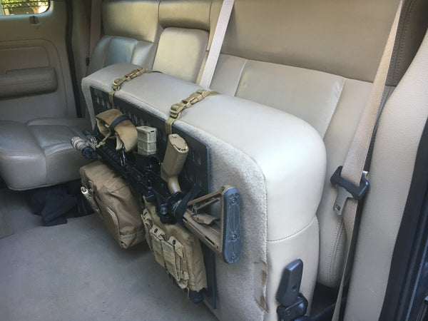 Grey Man Tactical Rigid MOLLE Panel RIP-M Vehicle Seat Back AR-15 Mount Vehicle Every Day Carry Law Enforcement Vehicle SWAT Vehicle