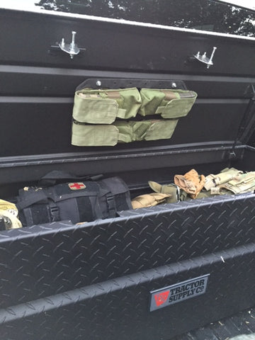 Grey Man Tactical Rigid MOLLE Panel Truck Bed Tool Box MOLLE Panel Organizer