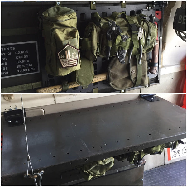 Grey Man Tactical Rigid MOLLE Panel bug out vehicle tactical van survival vehicle camper organizer fold table molle