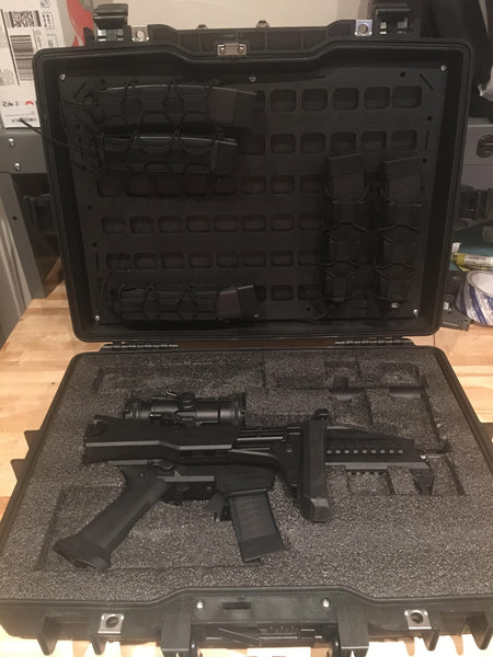 Grey Man Tactical Rigid MOLLE Panel Pelican Case Lid Organizer