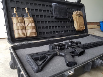 rifle in case with Pelican Lid Organizer