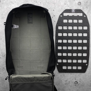 Rigid MOLLE Panel - For 5.11 Tactical AMP 12 AMP 24 - 10.25in x 19in