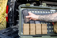 molle pouches and ammo on the lid of the pelican case, Pelican Lid Organizer