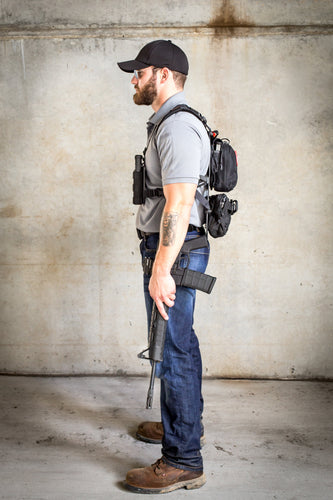 man where his everday carry (edc) backpack