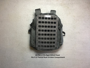 Molle panel fit right into a backpack made for edc