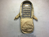 molle panel inserted tactically in backpack